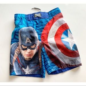 Boys- Captain America Swim Trunks